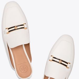 """Tory Burch """"Amelia"""" Backless Loafer, Perfect Ivory"""